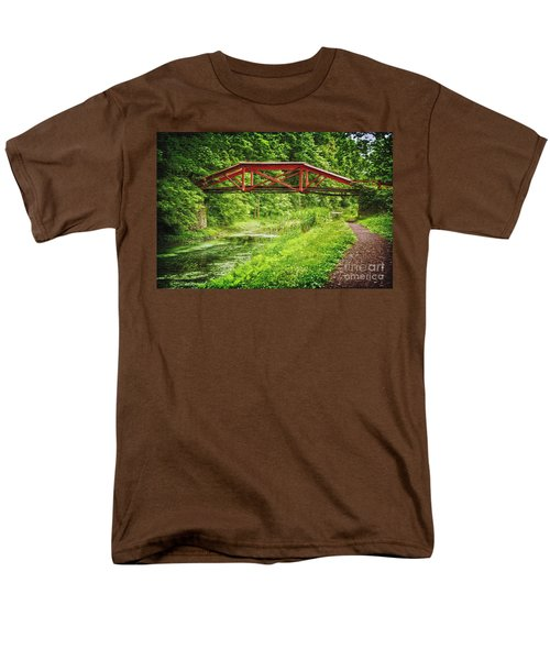 Canal Bridge Men's T-Shirt  (Regular Fit) by Debra Fedchin