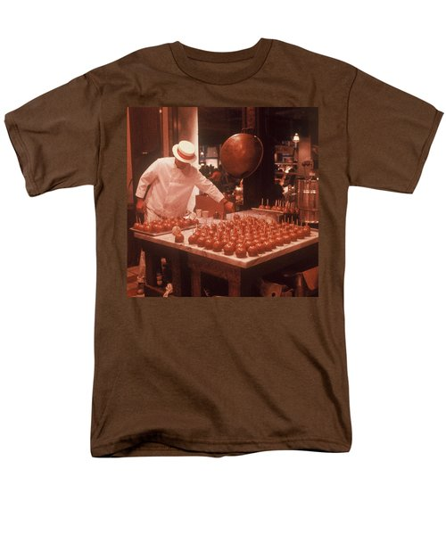 Men's T-Shirt  (Regular Fit) featuring the photograph Candy Apple Man by Rodney Lee Williams