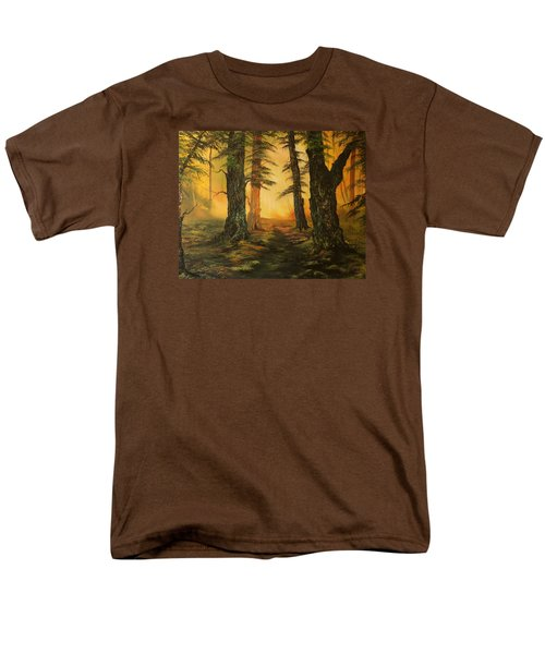 Cannock Chase Forest In Sunlight Men's T-Shirt  (Regular Fit) by Jean Walker