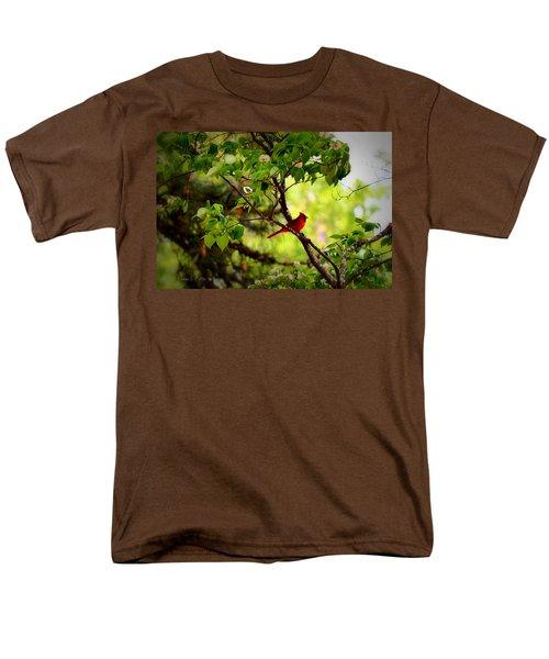 Cardinal In Dogwood Men's T-Shirt  (Regular Fit) by Tara Potts