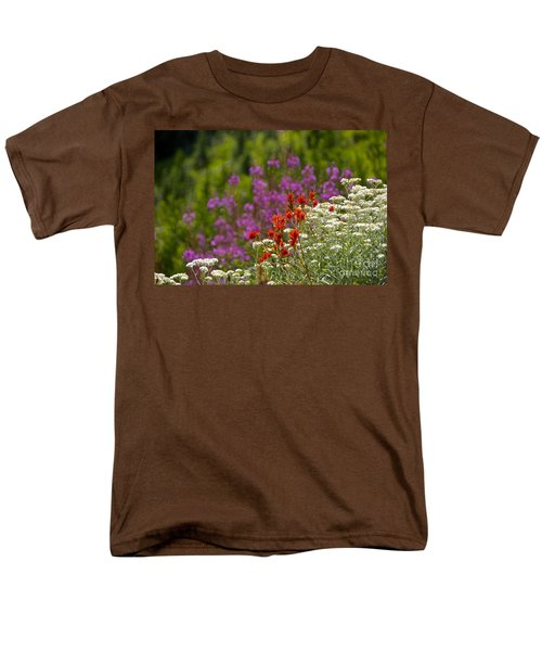 Men's T-Shirt  (Regular Fit) featuring the photograph Cascade Wildflowers by Sean Griffin