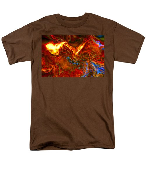 Men's T-Shirt  (Regular Fit) featuring the digital art Cat And Caduceus In The Matmos by Richard Thomas