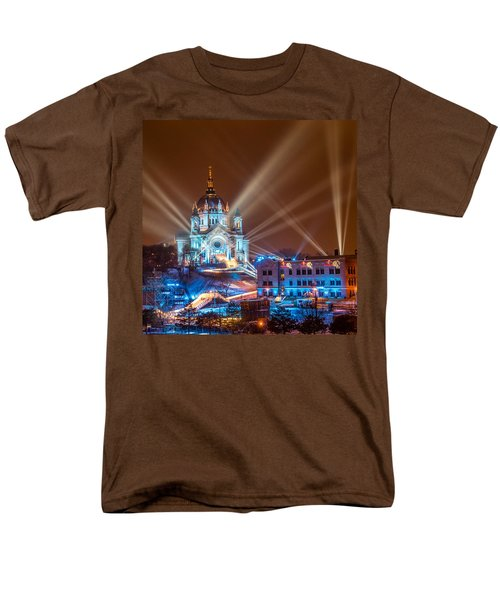 Cathedral Of St Paul Ready For Red Bull Crashed Ice Men's T-Shirt  (Regular Fit) by Paul Freidlund
