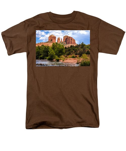 Cathedral Rock Men's T-Shirt  (Regular Fit) by Fred Larson