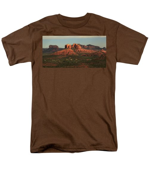 Men's T-Shirt  (Regular Fit) featuring the photograph Cathedral Rocks In Sedona by Alan Vance Ley