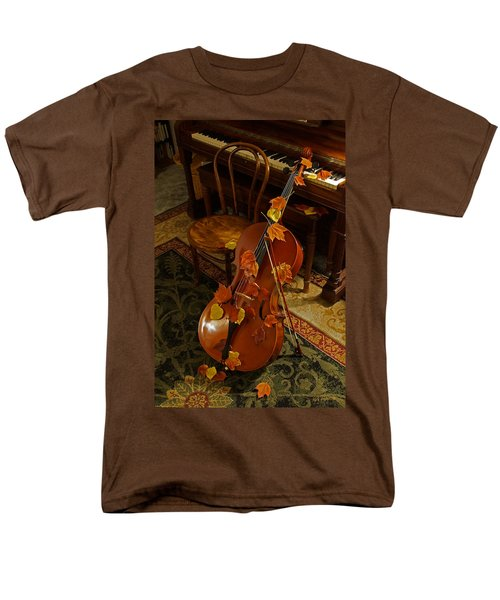 Cello Autumn 1 Men's T-Shirt  (Regular Fit) by Mick Anderson