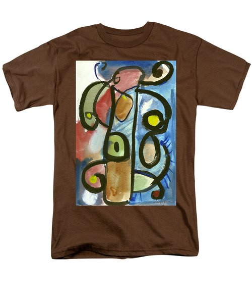 Men's T-Shirt  (Regular Fit) featuring the painting Cello In Blue by Stephen Lucas