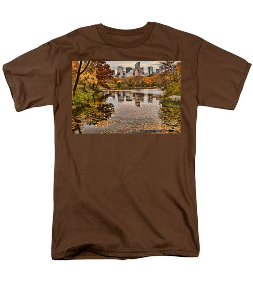 Central Park In The Fall New York City Men's T-Shirt  (Regular Fit) by Sabine Jacobs
