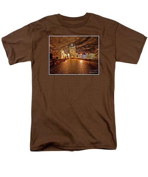 Charles Bridge At Night Men's T-Shirt  (Regular Fit) by Madeline Ellis