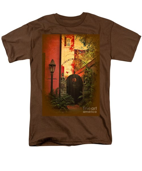 Men's T-Shirt  (Regular Fit) featuring the photograph Charleston Garden Entrance by Kathy Baccari