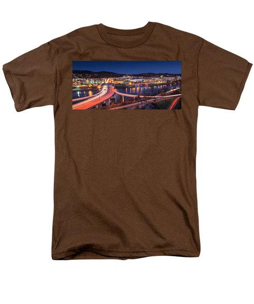 Charleston Wv At Night Men's T-Shirt  (Regular Fit) by Mary Almond