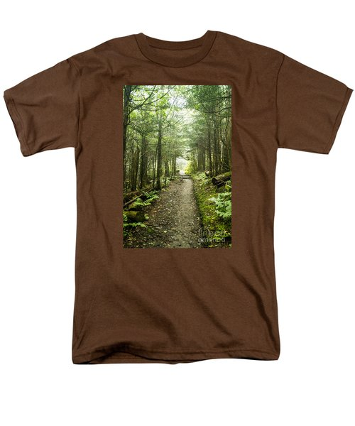 Men's T-Shirt  (Regular Fit) featuring the photograph Charlies Bunion Bald Trail by Debbie Green