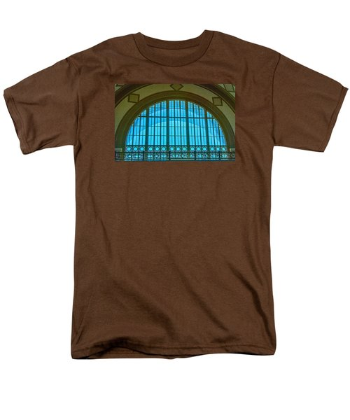 Men's T-Shirt  (Regular Fit) featuring the photograph Chattanooga Train Depot Stained Glass Window by Susan  McMenamin