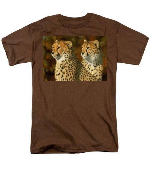 Cheetah Brothers Men's T-Shirt  (Regular Fit) by David Stribbling