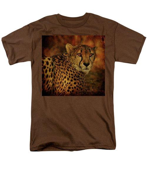 Cheetah Men's T-Shirt  (Regular Fit) by Sandy Keeton