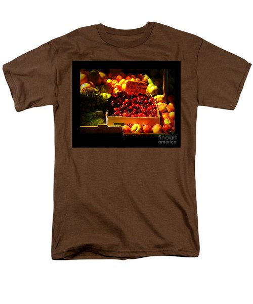 Men's T-Shirt  (Regular Fit) featuring the photograph Cherries 299 A Pound by Miriam Danar