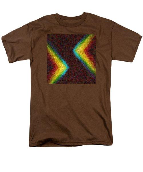Chevron Double Rainbow C2014 Men's T-Shirt  (Regular Fit) by Paul Ashby