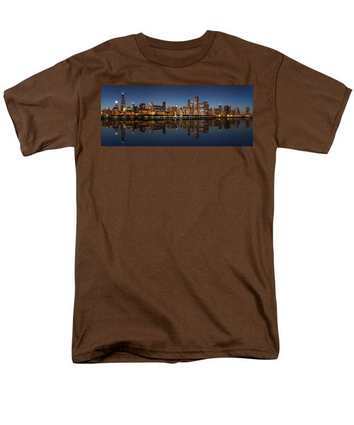 Chicago Reflected Men's T-Shirt  (Regular Fit) by Semmick Photo