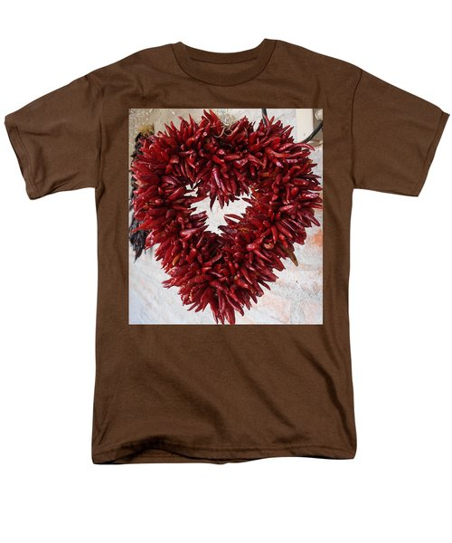 Men's T-Shirt  (Regular Fit) featuring the photograph Chili Pepper Heart by Kerri Mortenson