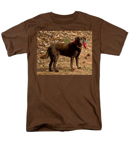 Men's T-Shirt  (Regular Fit) featuring the photograph Chocolate Lab by Robert L Jackson