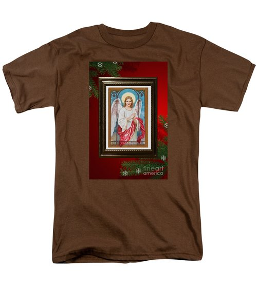 Men's T-Shirt  (Regular Fit) featuring the digital art Christmas Angel Art Prints Or Cards by Valerie Garner