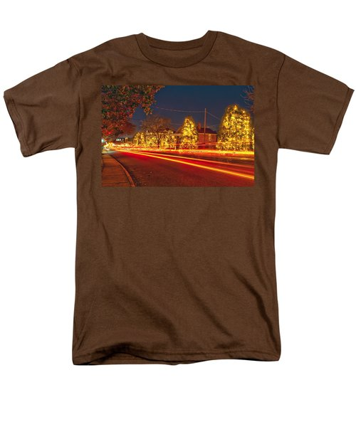 Men's T-Shirt  (Regular Fit) featuring the photograph Christmas Town Usa by Alex Grichenko
