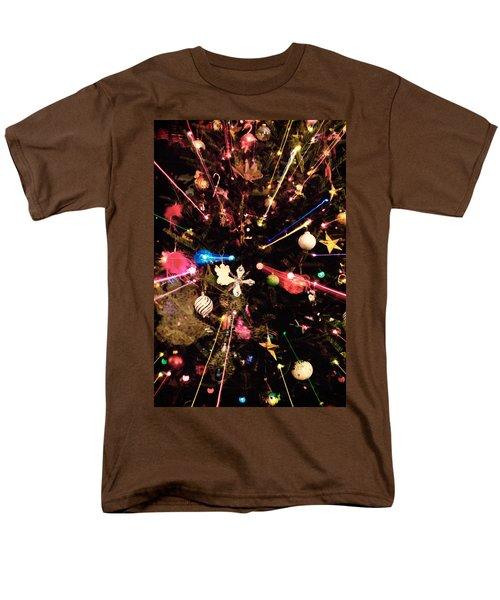 Men's T-Shirt  (Regular Fit) featuring the photograph Christmas Tree Lights by Vizual Studio