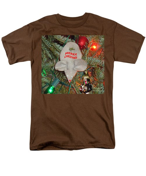 Men's T-Shirt  (Regular Fit) featuring the photograph Christmas Tree Mouse by Joseph Baril