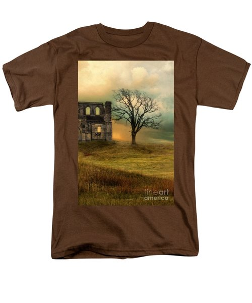 Church Ruin With Stormy Skies Men's T-Shirt  (Regular Fit) by Jill Battaglia