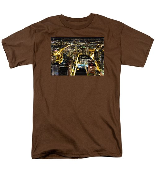 Men's T-Shirt  (Regular Fit) featuring the photograph Cityscape Golden Burrard Bridge Mdlxiv by Amyn Nasser