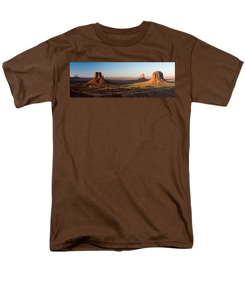 Cliffs On A Landscape, Monument Valley Men's T-Shirt  (Regular Fit) by Panoramic Images