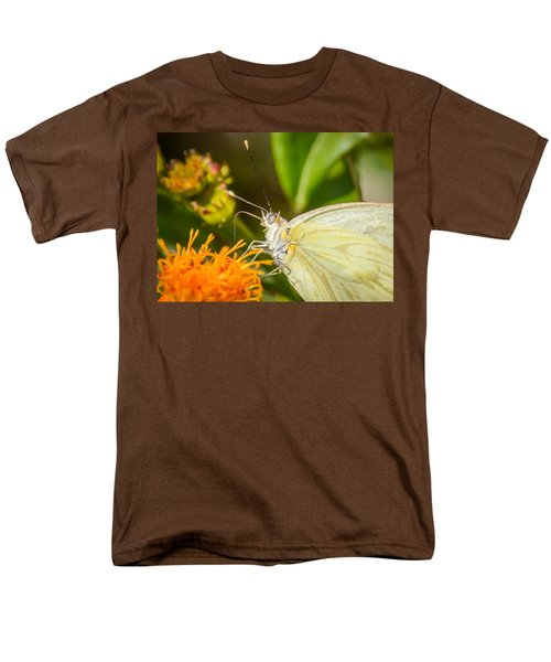 Men's T-Shirt  (Regular Fit) featuring the photograph Butterfly Attracted To Mexican Flame by Debra Martz