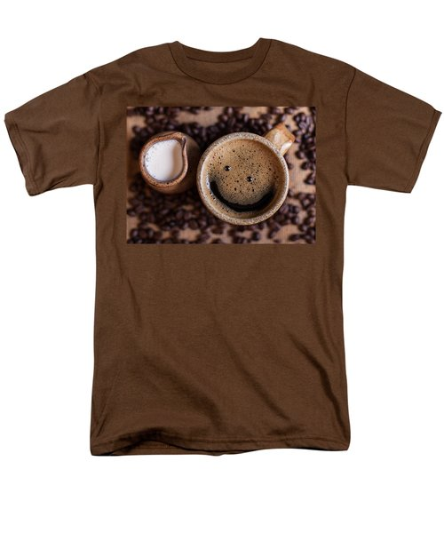 Men's T-Shirt  (Regular Fit) featuring the photograph Coffee With A Smile by Aaron Aldrich