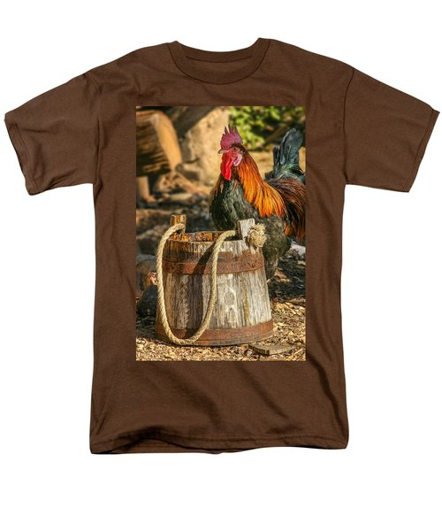 Coloful Rooster 2 Men's T-Shirt  (Regular Fit) by Mary Almond