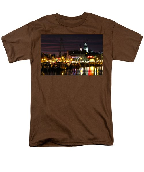 Colorful Annapolis Evening Men's T-Shirt  (Regular Fit) by Jennifer Casey