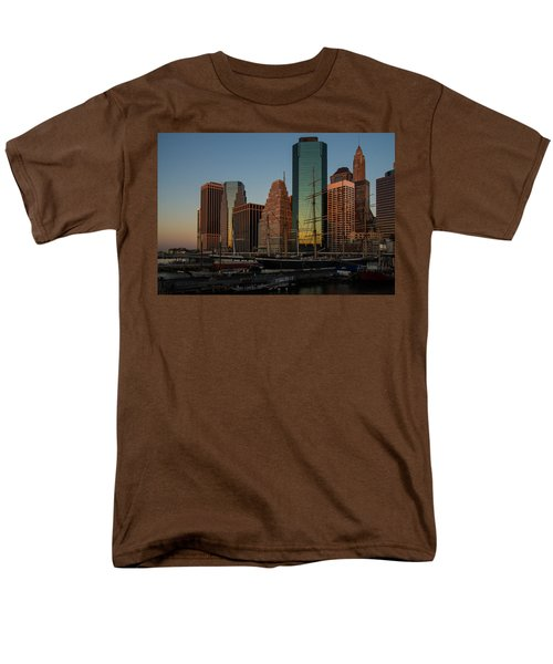 Men's T-Shirt  (Regular Fit) featuring the photograph Colorful New York  by Georgia Mizuleva