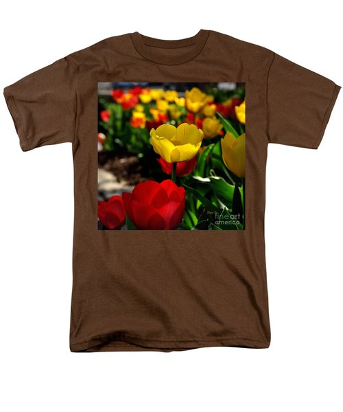 Colorful Spring Tulips Men's T-Shirt  (Regular Fit) by Nava Thompson
