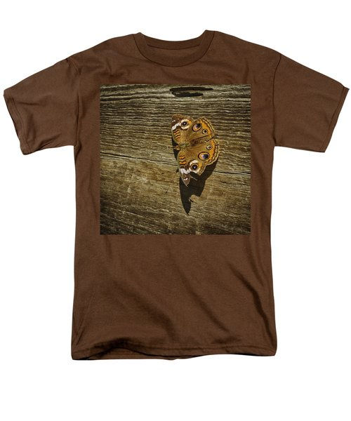 Common Buckeye With Torn Wing Men's T-Shirt  (Regular Fit) by Lynn Palmer
