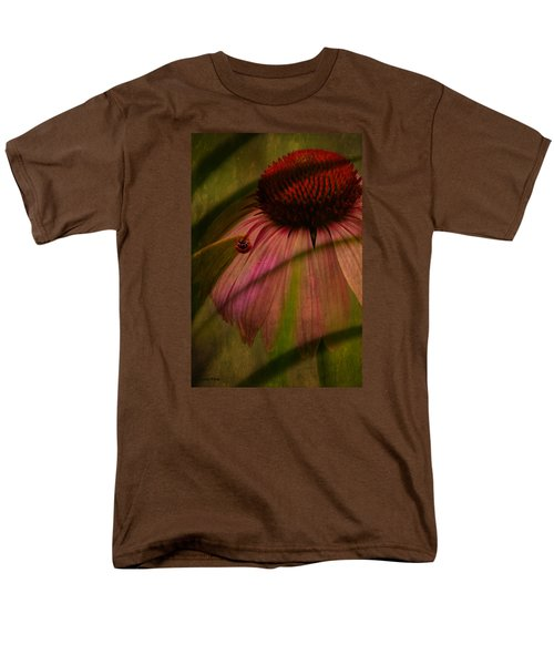 Cone Flower And The Ladybug Men's T-Shirt  (Regular Fit) by Lesa Fine