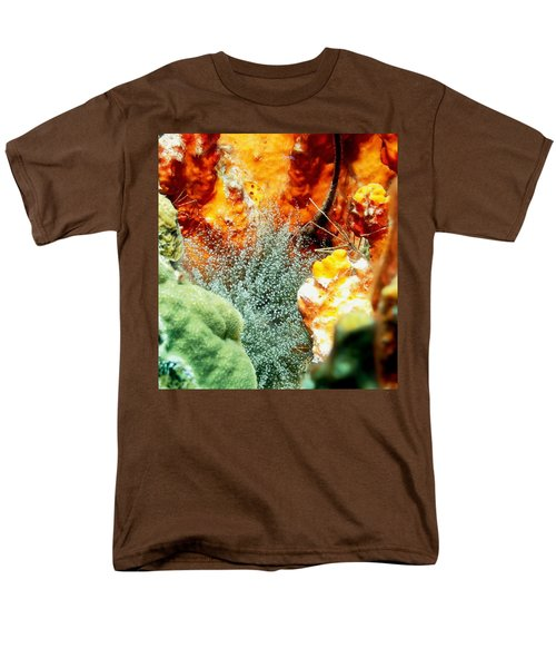 Men's T-Shirt  (Regular Fit) featuring the photograph Corkscrew Anemone Grove by Amy McDaniel