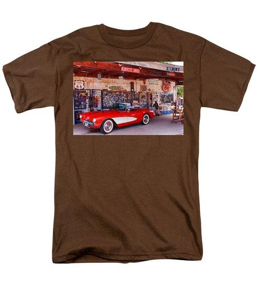 Corvette Drive Rt 66 Men's T-Shirt  (Regular Fit) by Fred Larson