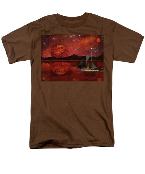 Men's T-Shirt  (Regular Fit) featuring the painting Cosmic Ocean by Michael Rucker
