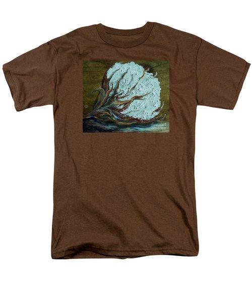 Cotton Boll On Wood Men's T-Shirt  (Regular Fit) by Eloise Schneider