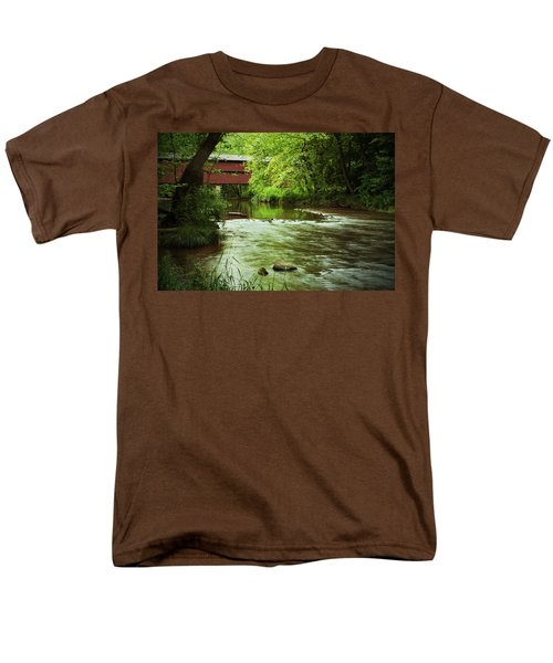 Covered Bridge Over French Creek Men's T-Shirt  (Regular Fit) by Michael Porchik