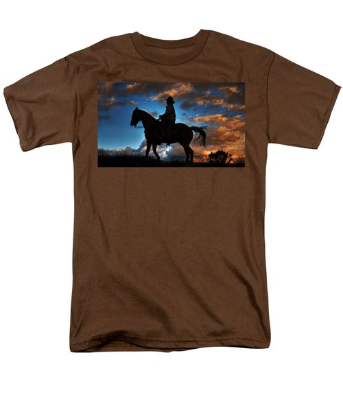 Men's T-Shirt  (Regular Fit) featuring the photograph Cowboy Silhouette by Ken Smith
