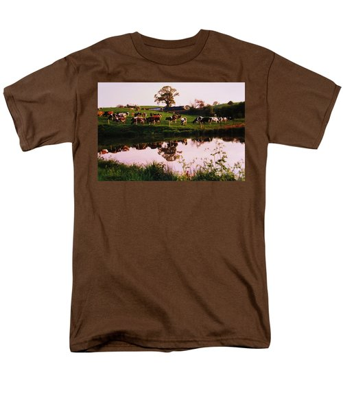 Cows In The Canal Men's T-Shirt  (Regular Fit) by Martin Howard