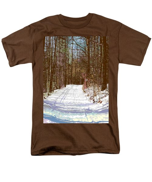 Men's T-Shirt  (Regular Fit) featuring the photograph Cross Country Trail by Nina Silver