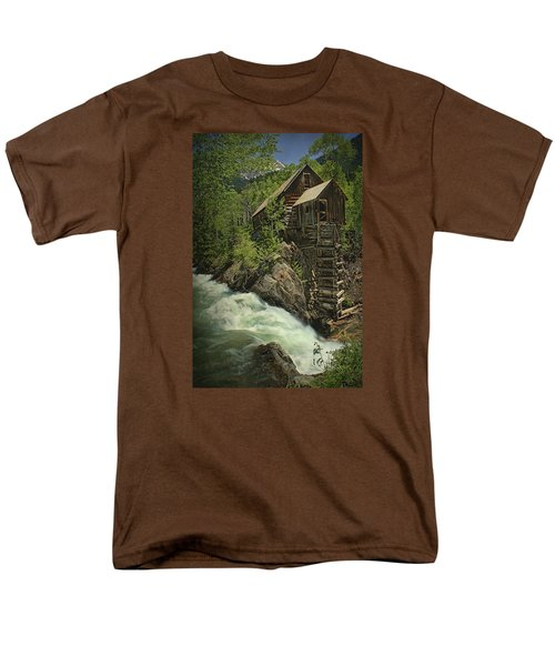 Men's T-Shirt  (Regular Fit) featuring the photograph Crystal Mill by Priscilla Burgers