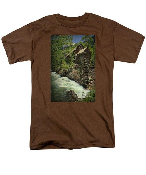 Crystal Mill Men's T-Shirt  (Regular Fit) by Priscilla Burgers