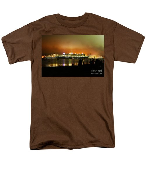 Men's T-Shirt  (Regular Fit) featuring the photograph Cunard's 3 Queens by Terri Waters